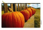 Perfect Row Of Pumpkins Carry-all Pouch