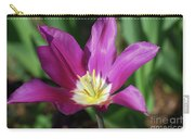 Perfect Single Dark Pink Tulip Flower Blossom Blooming Carry-all Pouch