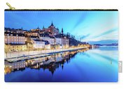 Perfect Sodermalm And Mariaberget Blue Hour Reflection Carry-all Pouch