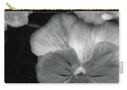 Perfectly Pansy 12 - Bw - Water Paper Carry-all Pouch