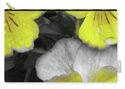 Perfectly Pansy 13 - Bw - Yellow Carry-all Pouch