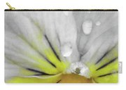 Perfectly Pansy 16 - Bw - Yellow Carry-all Pouch