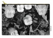 Perfectly Pansy 18 - Bw - Water Paper Carry-all Pouch