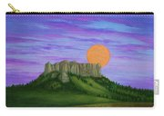 Perigee Moon Rising Above Crow Butte Carry-all Pouch