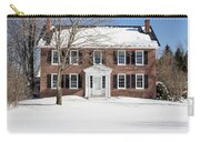 Period Vintage New England Brick House In Winter Carry-all Pouch