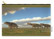 Permian Inostrancevia Hunts Keratocephalus Carry-all Pouch