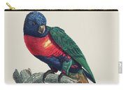 Perruche A Tete Bleue, Male / Rainbow Lorikeet, Male - Restored 19th Cent. Illustration By Barraband Carry-all Pouch