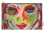 Persistence - Contemporary Art Face Carry-all Pouch