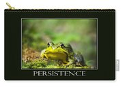Persistence Inspirational Motivational Poster Art Carry-all Pouch by Christina Rollo