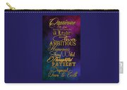 Personality Traits Of A Capricorn Carry-all Pouch by Mamie Thornbrue