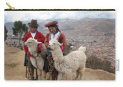 Peruvian Girls With Llamas Carry-all Pouch