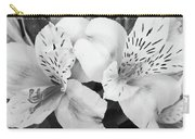 Peruvian Lilies  Flowers Black And White Print Carry-all Pouch
