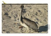 Peruvian Pelican Standing On A Sandy Beach Carry-all Pouch
