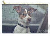 Pet Looking Out Car Window On Rainy Day Carry-all Pouch