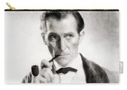 Peter Cushing As Sherlock Holmes Carry-all Pouch