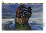 Peter Iredale Shipwreck Under Starry Night Sky Carry-all Pouch