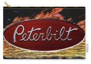 Peterbilt Emblem In Flames Carry-all Pouch