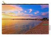 Petrcane Beach Golden Sunset View Carry-all Pouch