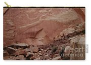 Petroglyphs On A Sheer Rock Wall Carry-all Pouch