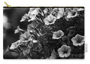 Petunias 1 Black And White Carry-all Pouch