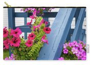 Petunias On Blue Porch Carry-all Pouch