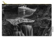 Pewits Nest Waterfalls In Black And White Carry-all Pouch