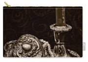 Pewter And Pearls - Sepia Carry-all Pouch