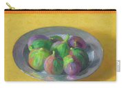 Pewter Plate With Figs Carry-all Pouch