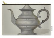 Pewter Teapot Carry-all Pouch