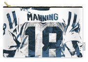 Peyton Manning Indianapolis Colts Pixel Art Carry-all Pouch