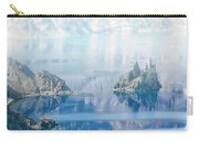 Phantom Ship Island In Mist At Crater Lake Carry-all Pouch