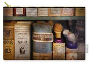 Pharmacy - Oils And Balms Carry-all Pouch by Mike Savad