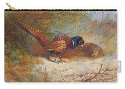 Pheasants By Thorburn Carry-all Pouch