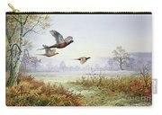 Pheasants In Flight  Carry-all Pouch