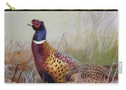 Pheasants In The Snow Carry-all Pouch