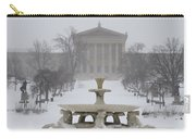 Philadelphia Art Museum From The West In Winter Carry-all Pouch