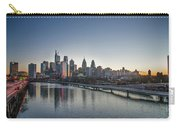 Philadelphia At Dawn From The South Street Bridge Carry-all Pouch