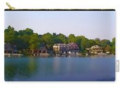 Philadelphia Boat House Row Carry-all Pouch by Bill Cannon