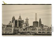 Philadelphia From The Waterfront In Sepia Carry-all Pouch