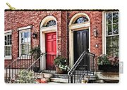 Philadelphia Pa - Townhouse With Red Geraniums Carry-all Pouch