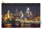 Philadelphia Philly Skyline At Night From East Color Carry-all Pouch