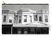 Philadelphia Row Houses - Black And White Carry-all Pouch