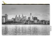 Philadelphia Skyline In Black And White Carry-all Pouch