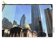 Philadelphia Street Level - Skyscrapers And Classical Building View Carry-all Pouch