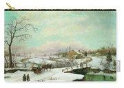 Philadelphia Winter Landscape Ca. 1830 - 1845 By Thomas Birch Carry-all Pouch