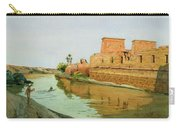 Philae On The Nile Carry-all Pouch by Alexander West