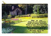 Philippians 4-8 The  Cottage House Carry-all Pouch by Cynthia Amaral
