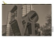 Philly Esque  - Love Statue In Sepia Carry-all Pouch