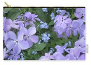 Phlox Divaricata Chattahoochee And Myosotis Forget-me-not Carry-all Pouch