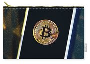 Phone With A Bitcoin Laying On Top Of It. Carry-all Pouch